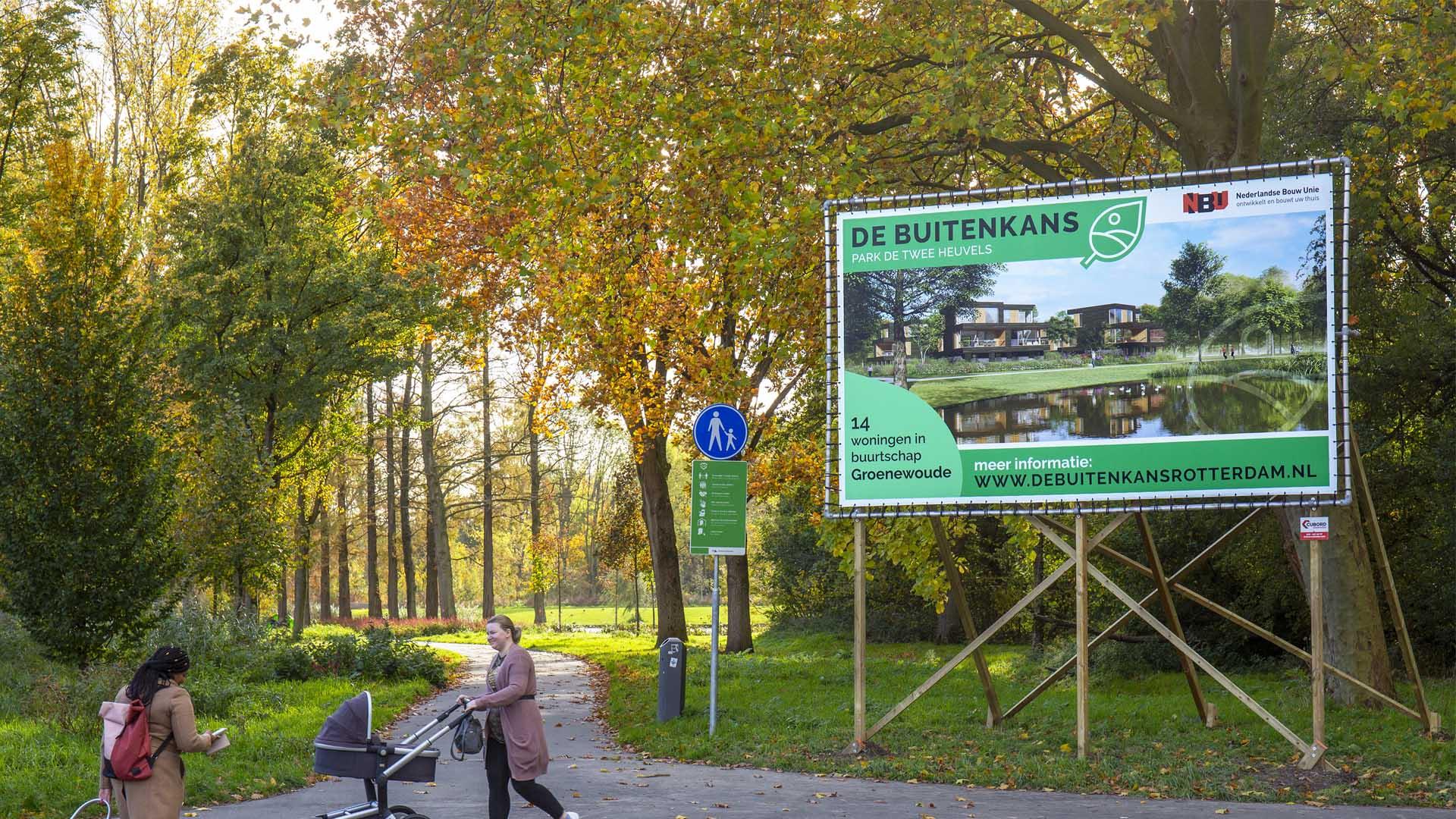 32 nieuwe woningen sieren rand van Park De Twee Heuvels in IJsselmonde